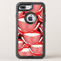 Big Mouth Laughing Red Lips and Teeth Funny Humor OtterBox Defender iPhone 8 Plus/7 Plus Case