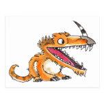 Big-Mouth Orange Monster Postcard
