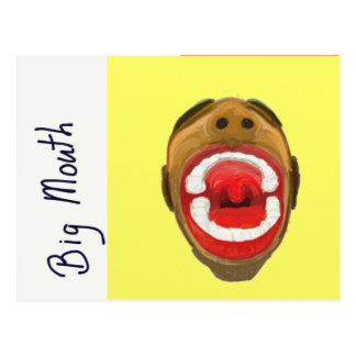 Big Mouth Post Card