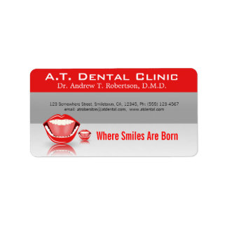 Big Mouth Professional Dental Return Adress Labels Personalized Address Label