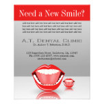 Big Mouth Small Dentist Dentistry Dental Flyers Full Color Flyer