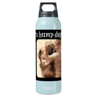 Big Mouthed Camel, Hump Day, lime Thermos Water Bottle