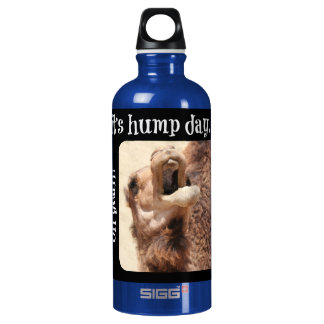 Big Mouthed Camel, Hump Day, lime Water Bottle