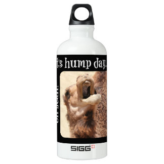 Big Mouthed Camel, Hump Day, white Water Bottle