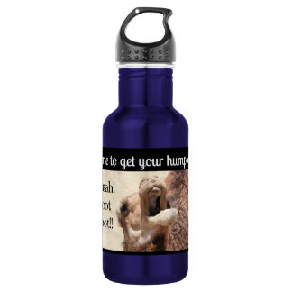 Big Mouthed Camel, time to get your hump on! blue Stainless Steel Water Bottle