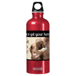 Big Mouthed Camel, time to get your hump on! pink Water Bottle