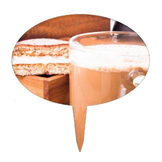 Big mug of hot cocoa with foam cake topper