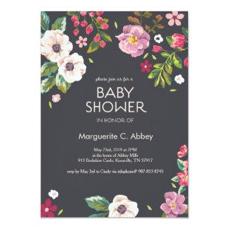 Big Multi FLoral Baby Shower Invitation