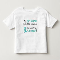 Big Muscles TEAL (Grandma) Toddler T-shirt