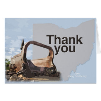 Big Muskie thank you card
