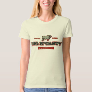 Big N' Tasty Humorous Bull Graphic T-Shirt