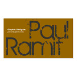 Big Name Font 2 Business Card