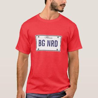 Big Nerd License Plate T-Shirt