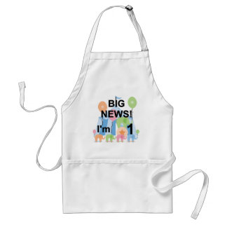 Big News Circus 1st Birthday T-shirts and Gifts Adult Apron