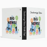 Big News Circus 1st Birthday T-shirts and Gifts 3 Ring Binder