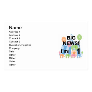 Big News Circus 1st Birthday T-shirts and Gifts Double-Sided Standard Business Cards (Pack Of 100)