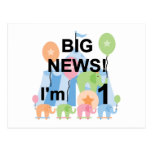 Big News Circus 1st Birthday T-shirts and Gifts Post Cards
