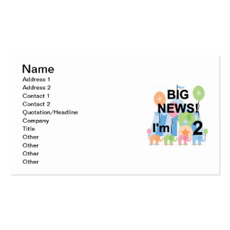 Big News Circus 2nd Birthday T-shirts and Gifts Business Card