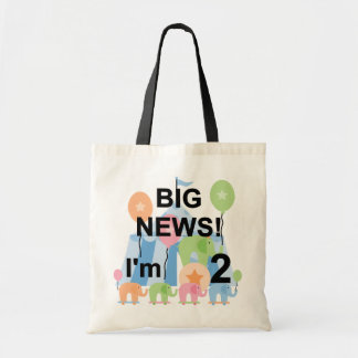 Big News Circus 2nd Birthday T-shirts and Gifts Tote Bag