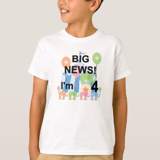 Big News Circus 4th Birthday T shirts and Gifts