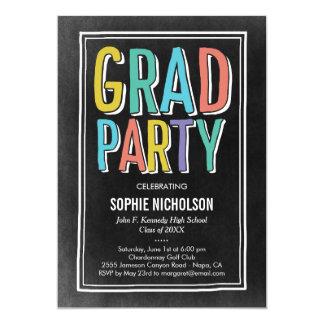 Big News Graduation Party Invitation Chalk