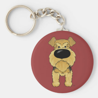 Big Nose Airedale Terrier Keychain