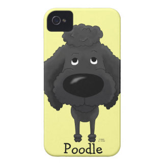 Big Nose Black Poodle iPhone 4 Cover