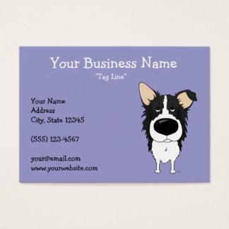 Big Nose Border Collie Business Card