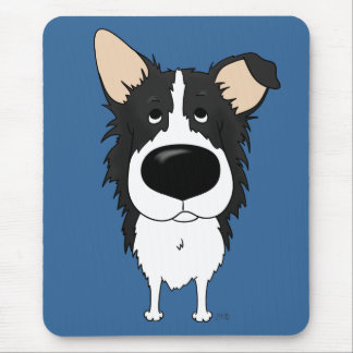 Big Nose Border Collie Mouse Pad