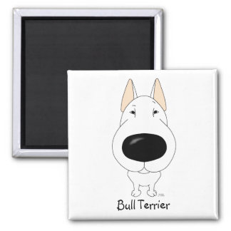 Big Nose Bull Terrier 2 Inch Square Magnet