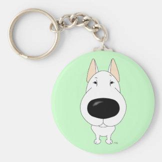 Big Nose Bull Terrier Basic Round Button Keychain