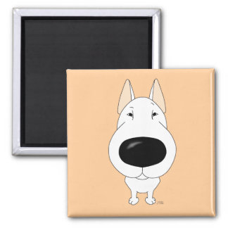Big Nose Bull Terrier Refrigerator Magnets
