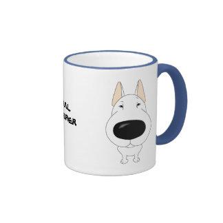 Big Nose Bull Terrier Ringer Coffee Mug