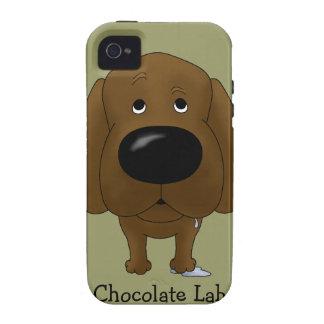Big Nose Chocolate Labrador iPhone 4/4S Covers