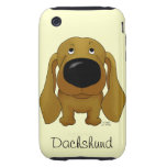 Big Nose Dachshund iPhone 3 Tough Cover