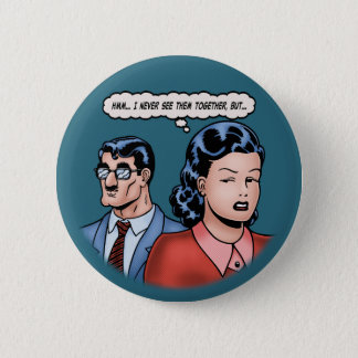 Big-Nose Disguise Pinback Button