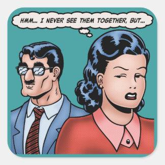 Big-Nose Disguise Square Sticker