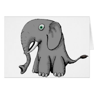 Big Nose Elephant Card