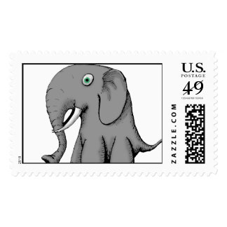 Big Nose Elephant Stamps