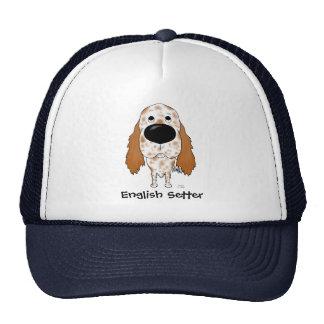 Big Nose English Setter Mesh Hats