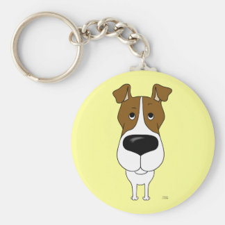 Big Nose Fox Terrier Key Chains