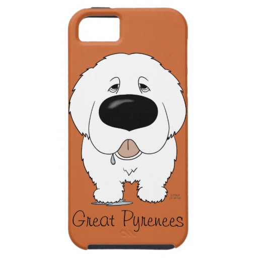 Big Nose Great Pyrenees iPhone 5 Cases