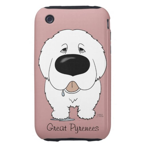 Big Nose Great Pyrenees iPhone 3 Tough Cover
