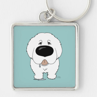 Big Nose Great Pyrenees Keychain