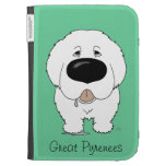 Big Nose Great Pyrenees Kindle Keyboard Cases