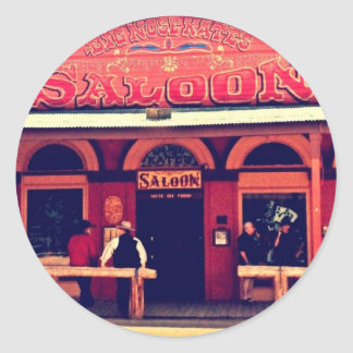 Big Nose Kate's Saloon Tombstone Arizona Classic Round Sticker