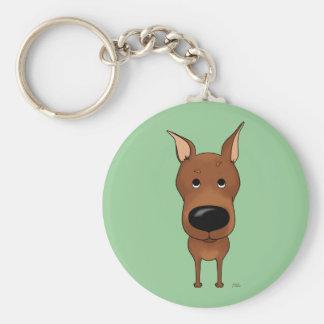 Big Nose Miniature Pinscher Keychains