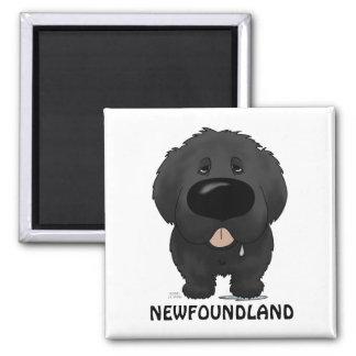 Big Nose Newfoundland 2 Inch Square Magnet