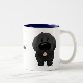 Big Nose Newfoundland Two-Tone Coffee Mug