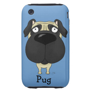 Big Nose Pug iPhone 3 Tough Cover